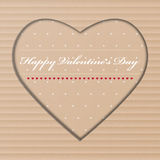Handmade Valentine Day greeting card from cardboard Stock Photography