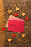 Handmade Valentine's Day Card Royalty Free Stock Images