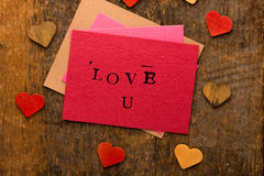 Handmade Valentine's Day Card Stock Images