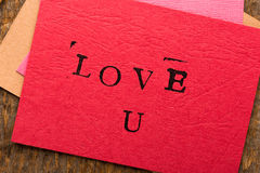 Handmade Valentine's Day Card Royalty Free Stock Photography