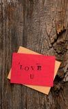 Handmade Valentine's Day Card Stock Photos