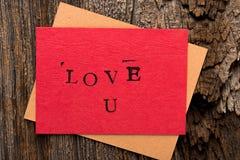 Handmade Valentine's Day Card Royalty Free Stock Photos