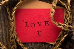 Handmade Valentine's Day Card Stock Image
