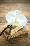 Handmade vanilla scented soap Royalty Free Stock Photos