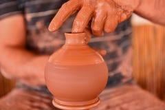 Handmade vase work Stock Photography