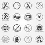 Handmade vector badges or labels Royalty Free Stock Image