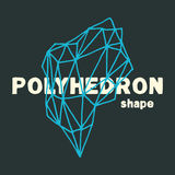 Handmade vector polyhedron. Stock Images