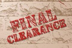 Handmade vector vintage sale sign banner on grunge brick wall. Stock Photo