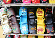 Handmade Vietnamese shoes Royalty Free Stock Photography