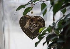 Pendant decoration retro heart stock images