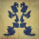 Handmade vintage rorschach test Stock Photos