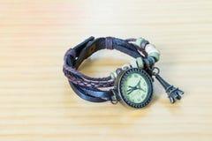 Handmade vintage watch. Paris model Stock Photo