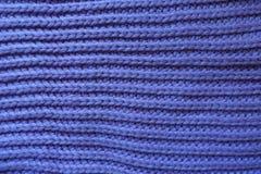 Handmade violet rib lnit fabric with horizontal wales Stock Photos
