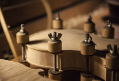 Handmade Violin. This photograhy is captured while made of violin process Royalty Free Stock Images