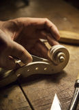Handmade Violin. This photograhy is captured while made of violin process Stock Image