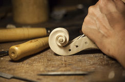 Handmade Violin. This photograhy is captured while made of violin process Royalty Free Stock Photos