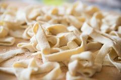 Handmade włoski makaron Zdjęcia Royalty Free