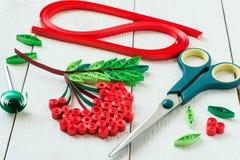 Handmade w technice quilling: gałęziasty rowan Zdjęcie Royalty Free