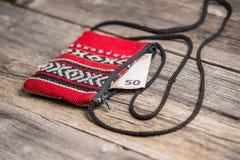 Handmade wallet Stock Photos