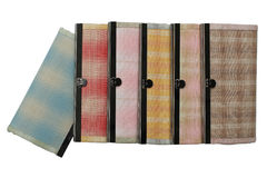 Handmade wallets isolated on white background.  Royalty Free Stock Image