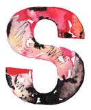Handmade watercolor alphabet design Royalty Free Stock Images