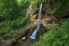 Handmade waterfall in Lillafured park Royalty Free Stock Photo