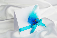 Handmade wedding card Royalty Free Stock Image
