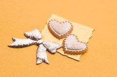 Handmade wedding card Stock Photography