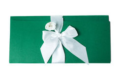 Handmade wedding card on a white background Royalty Free Stock Images