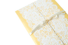 Handmade wedding card on a white background Stock Image
