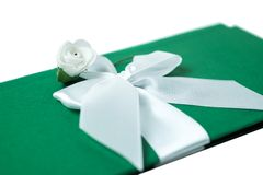 Handmade wedding card on a white background Royalty Free Stock Image