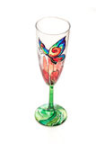 Handmade wedding glass Royalty Free Stock Photo
