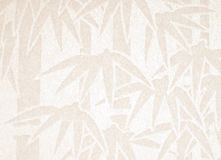 Handmade white paper with bamboo pattern Stock Photo