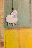 Handmade White Sheep Hanging Decoration Royalty Free Stock Photography
