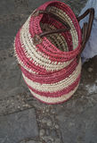 Handmade wicker bag Royalty Free Stock Images