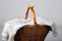 Handmade Wicker Basket Stock Photography