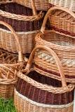 Handmade wicker basket Stock Images