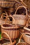 Handmade wicker basket Royalty Free Stock Photography