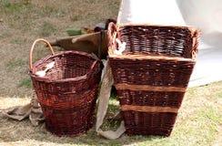 Handmade wicker basket Royalty Free Stock Images