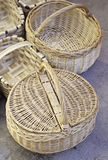 Handmade wicker baskets Royalty Free Stock Photography