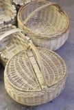 Handmade wicker baskets Royalty Free Stock Photography