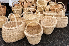 Handmade wicker baskets Royalty Free Stock Image