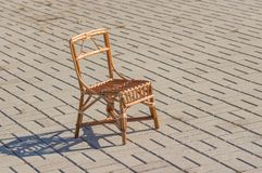 Handmade wicker chair Stock Photography
