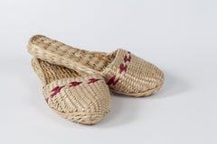 Handmade Wicker slipper Royalty Free Stock Images