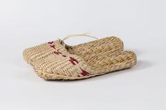 Handmade Wicker slipper Stock Photography