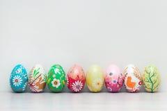 Handmade Wielkanocni jajka inkasowi Wiosna deseniuje sztukę Zdjęcia Royalty Free