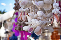 Handmade wind chimes made with mussell Royalty Free Stock Images