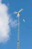 Handmade wind generator. With turning blades Stock Photo