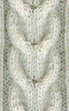 Handmade winter wool sweater, fragment, closeup. Royalty Free Stock Photo