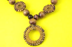 Handmade Wood Collar Royalty Free Stock Photo